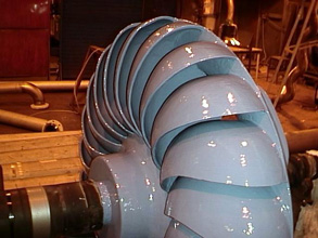 Turbine runner repaired and protected with Belzona 1341 (Supermetalglide)