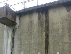 Leaking joints at sewage works